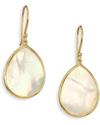 Ippolita - Polished Rock Candy Mother-of-pearl & 18k Yellow Gold Mini Teardrop Earrings - Lyst