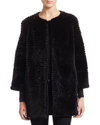 Saks Fifth Avenue - Sheared Beaver Fur Jacket - Lyst