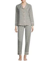 Maison Du Soir - Monaco Long-sleeve Pajamas - Lyst