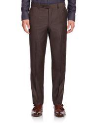 Saks Fifth Avenue - Wool Flat-front Pants - Lyst