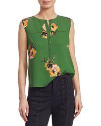 A.L.C. - Adela Sleeveless Silk Floral-print Blouse - Lyst