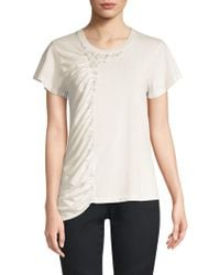 Joie - Sikoya Cotton Draped Tee - Lyst