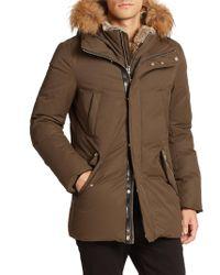 Mackage - Fur-trim Hip-length Down Jacket - Lyst