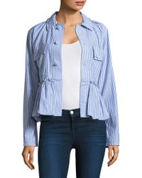Harvey Faircloth - Women's Striped Bubble Cotton Jacket - Stripe - Lyst