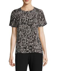 Eileen Fisher - Printed Silk Blouse - Lyst