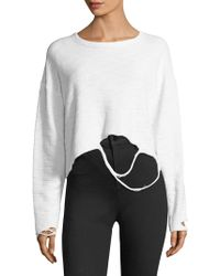 Twenty - Distressed Jersey Sweater - Lyst