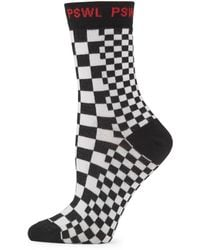 Proenza Schouler - Checkerboard Crew Socks - Lyst