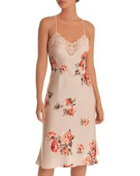 In Bloom - Unforgettable Floral Satin Midi Gown - Lyst