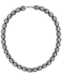 Majorica - 12mm Grey Baroque Pearl Strand Necklace - Lyst