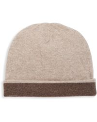 Saks Fifth Avenue - Collection Cashmere Double Face Hat - Lyst