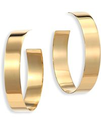 Lana Jewelry - Medium Vanity 14k Yellow Gold Hoop Earrings/1.5 - Lyst