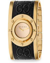 Gucci - Twirl Ssima Bangle Watch - Lyst