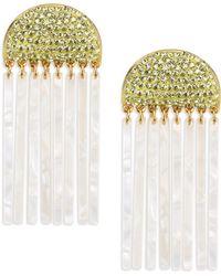 Lele Sadoughi - Confetti Crystal Comb Earrings - Lyst