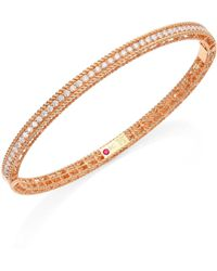 Roberto Coin - Symphony Braided Diamond & 18k Rose Gold Bracelet - Lyst