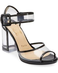 Christian Louboutin - Barbaclara Transparent Sandals - Lyst