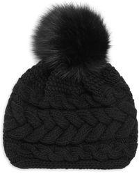 Inverni - Beatrice Fur Pom Pom Beanie - Lyst