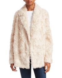 Theory - Clairene Faux Fur Teddy Coat - Lyst