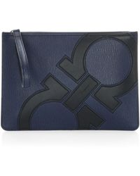 Ferragamo - Revival Leather Pouch - Lyst