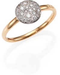 Pomellato | Sabbia Diamond & 18k Rose Gold Small Ring | Lyst