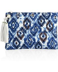 Melissa Odabash - Marrakesh Canvas Clutch - Lyst