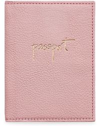Graphic Image - Leather Passport Case - Lyst