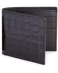 Saks Fifth Avenue - Printed Croc Leather Card Case - Lyst