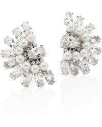 Fallon Monarch Florette Crystal Button Earrings FWfPu