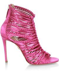 08ed718dd19 Lyst - Aquazzura Goddess 105 Sandals in Pink