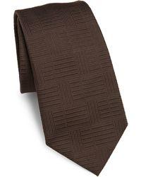 Armani - Geometric Silk Tie - Lyst