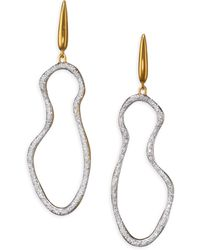 Monica Vinader - Riva Pave Pod Drop Earrings/goldtone - Lyst