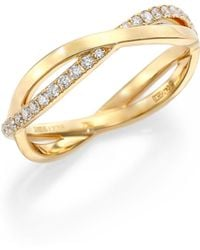 De Beers - Infinity Diamond & 18k Yellow Gold Half Band Ring - Lyst