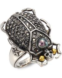 Alexander McQueen | Beetle Ring | Lyst