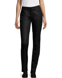 Lafayette 148 New York - Waxed Five-pocket Denim Skinny Jeans - Lyst