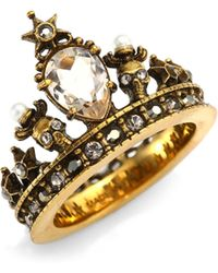 Alexander McQueen | Crown Ring | Lyst