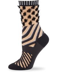 Issey Miyake - Double Stream Textured Sock - Lyst
