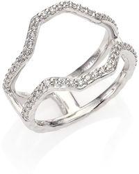 Phillips House - Hero Diamond & 14k White Gold Frame Ring - Lyst