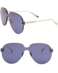 Dior ' Colour Quake 3' Rimless Aviator Sunglasses - Blue