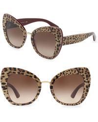 Dolce & Gabbana - 51mm Butterfly Sunglasses - Lyst