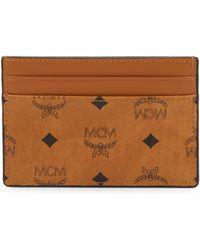 MCM - Men's Logo Card Case - Cognac - Lyst