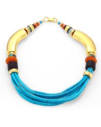 Lizzie Fortunato - Turquoise & Amazonite Collar Necklace - Lyst