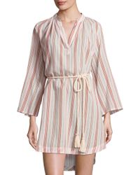 Eberjey - Patio Stripes Darwin Cotton Cover-up - Lyst