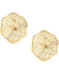 Oscar de la Renta - Coral Lace Earrings - Lyst