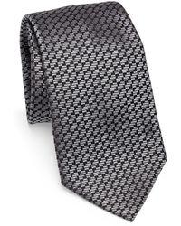 Emporio Armani - Silk Geometric-print Tie - Lyst