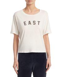 AMO - Short-sleeve East Cotton Tee - Lyst