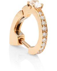 Repossi | Pave Diamond & 18k Rose Gold Hoop Earrings | Lyst