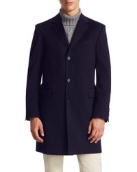 Saks Fifth Avenue - Collection Classic Buttoned Topcoat - Lyst