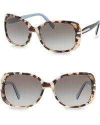Prada - 57mm Tortoise Gradient Sunglasses - Lyst