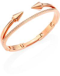 Vita Fede - Swarovski Crystals & 24k Rose-goldplated Hinged Band Bracelet - Lyst