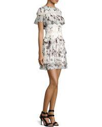 Alice + Olivia - Paola Ruffle Mini Dress - Lyst