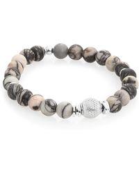 Tateossian - Stonehenge Sterling Silver And Semi-precious Stone Beaded Bracelet - Lyst